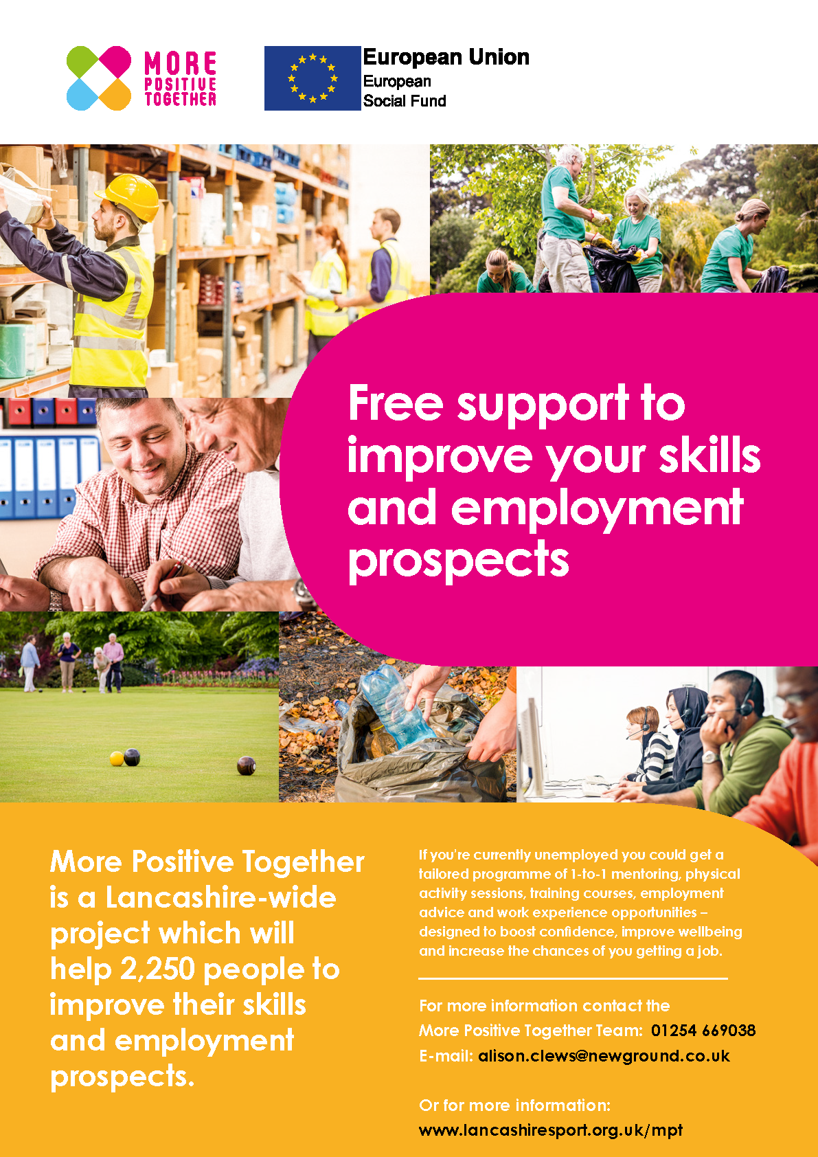 Get free support to improve your skills and employment prospects